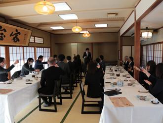 木更津の味処宝家にて昼食会