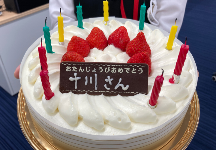 十川さんバースデーケーキ