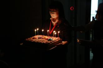 バースデーケーキ入場