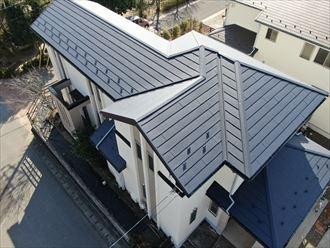 屋根カバー工法終了