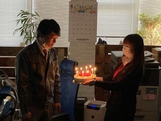 神子さんに誕生日サプライズを行いました