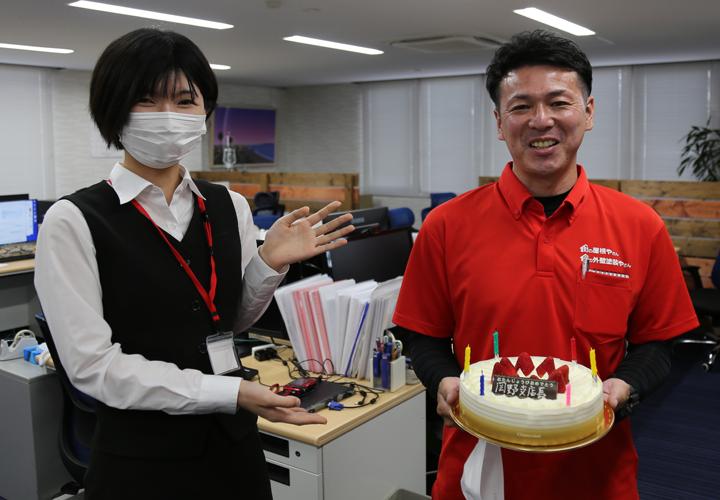 岡野支店長と川口さんのツーショット