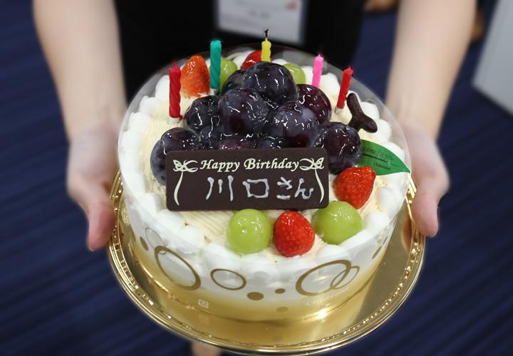 川口さんお誕生日ケーキ